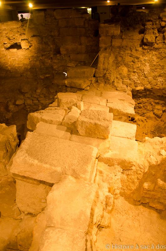 Vestiges des premiers remparts de Lutèce