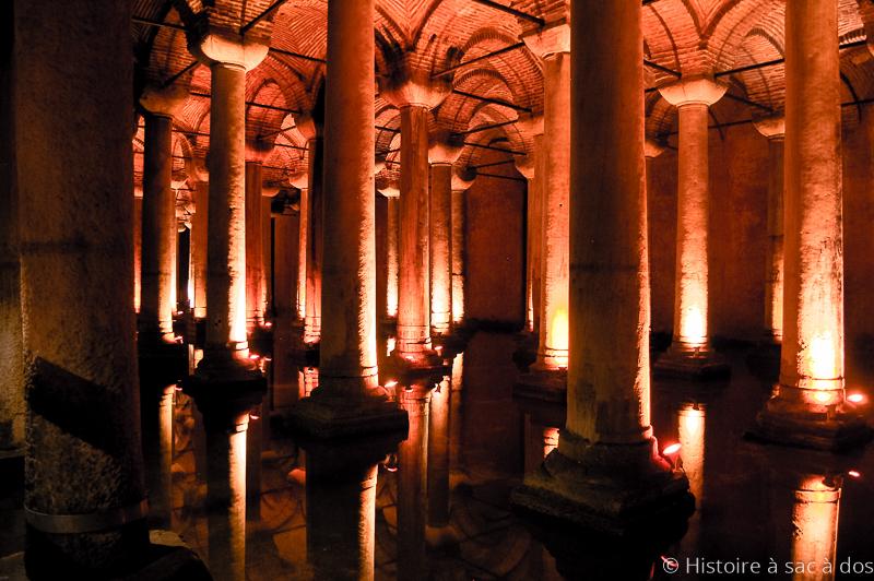 Citerne basilique construite sous l'empereur Justinien au VIème siècl