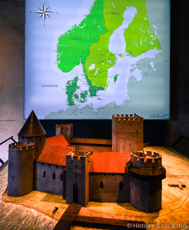 Carte des royaumes scandinaves au XIVème siècle