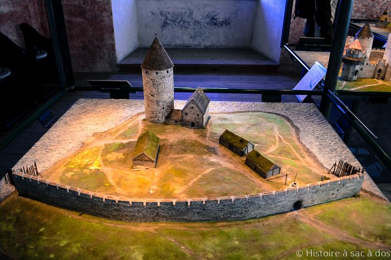 Maquette de la tour de défense du château de Kalmar