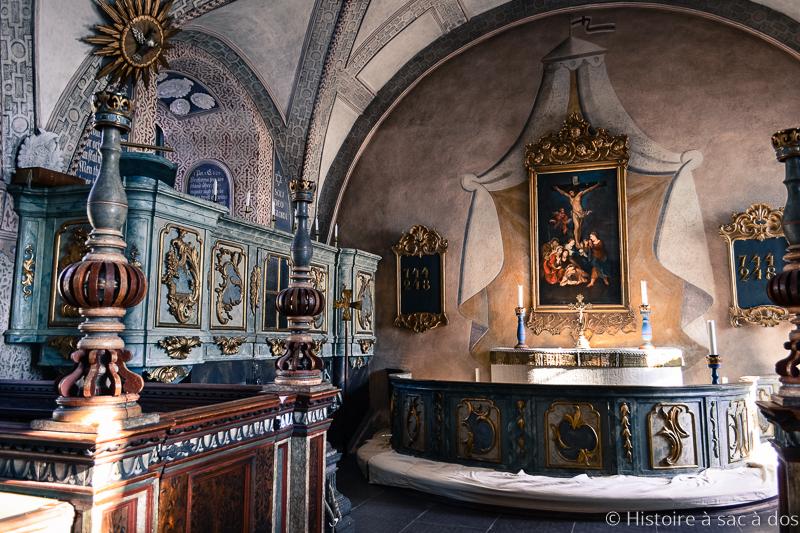 Autel de la chapelle du château de Kalmar