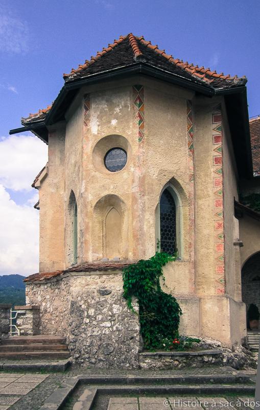Chapelle du château de Bled en Slovénie