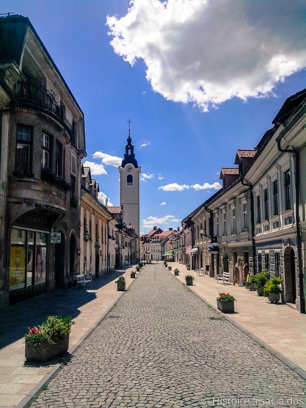 Rue principale de Kamnik en Slovénie, Sutna