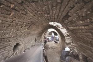 Découverte d'un corridor romain à Metropolis en Turquie DHA Photo
