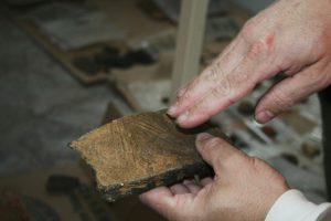 Tesson de céramique décorée de l'âge du Bronze