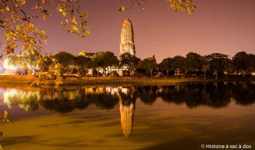 Visite de l'ancienne cité d'Ayutthaya en Thaïlande
