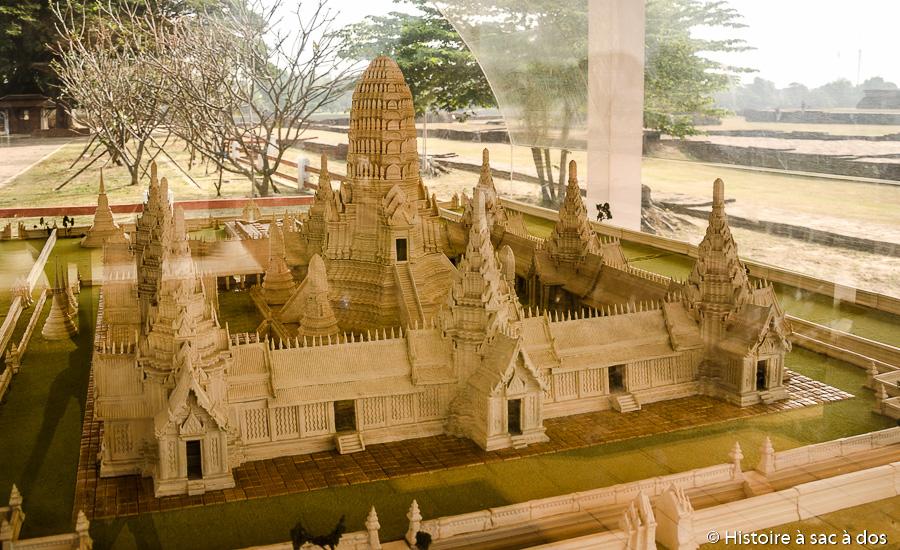 Maquette du Wat Chaiwatthanaram