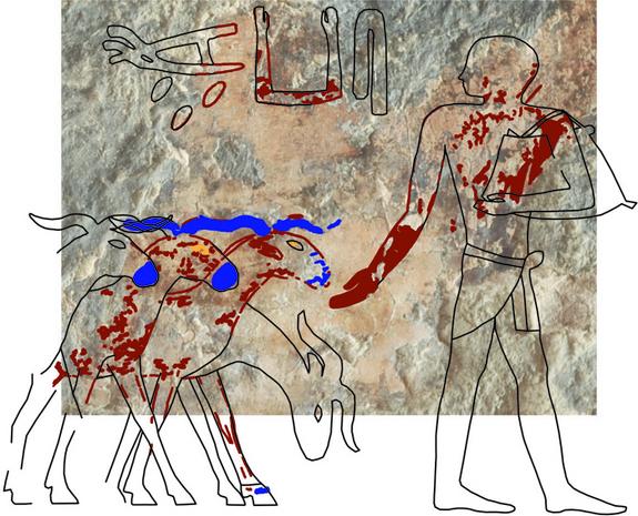 Egypte : découverte d'une peinture murale dans une tombe près de Gizeh