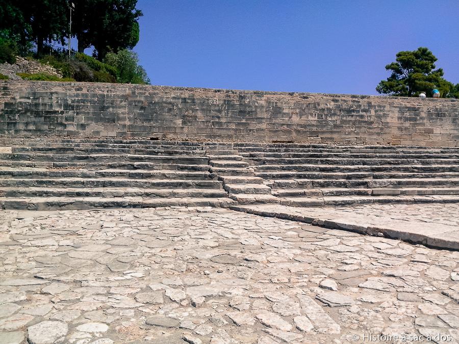 """""""Théâtre"""" du palais de Phaistos en Crète"""
