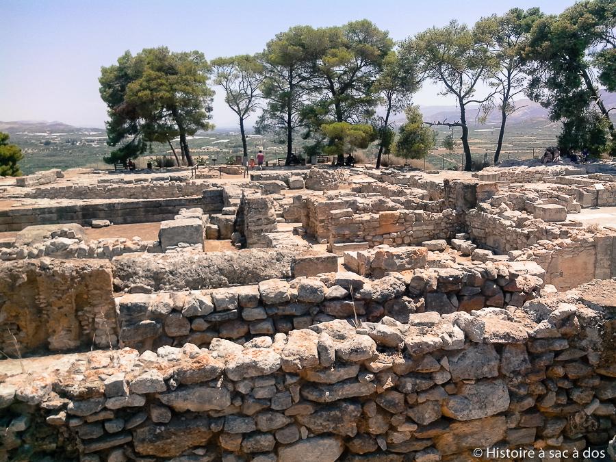 Vestiges du palais de Phaistos