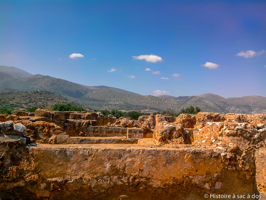 Vestiges du palais de Malia en Crète