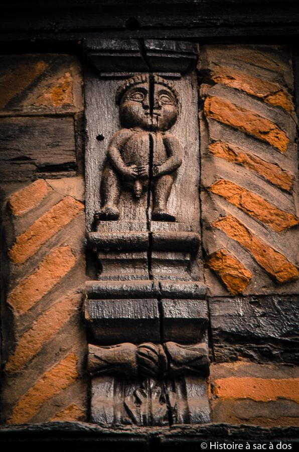 Gravure sur bois de la maison Enjalabert - Albii