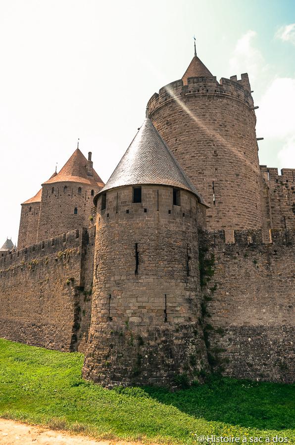 Cité de Carcassonne après les restaurations de Viollet-le-Duc