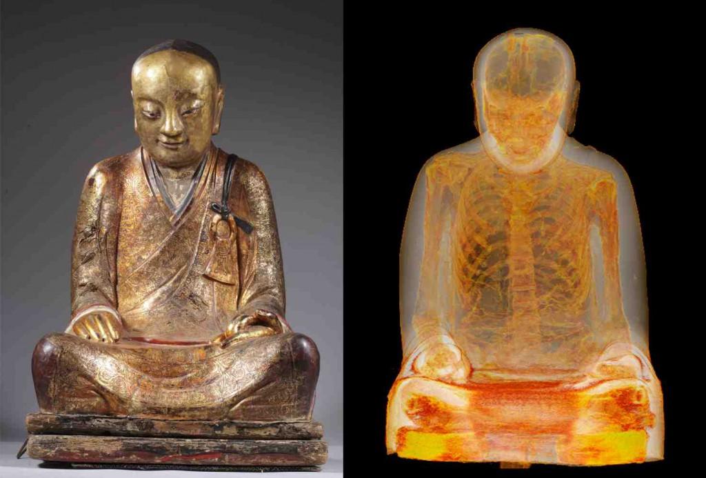 Momie associée au maître Liuquan (Photo: Drents Museum)