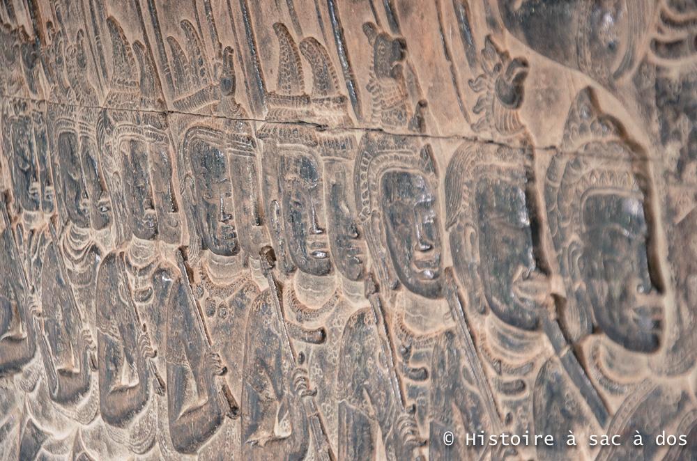 Armée khmer - Bas reliefs d'Angkor Vat