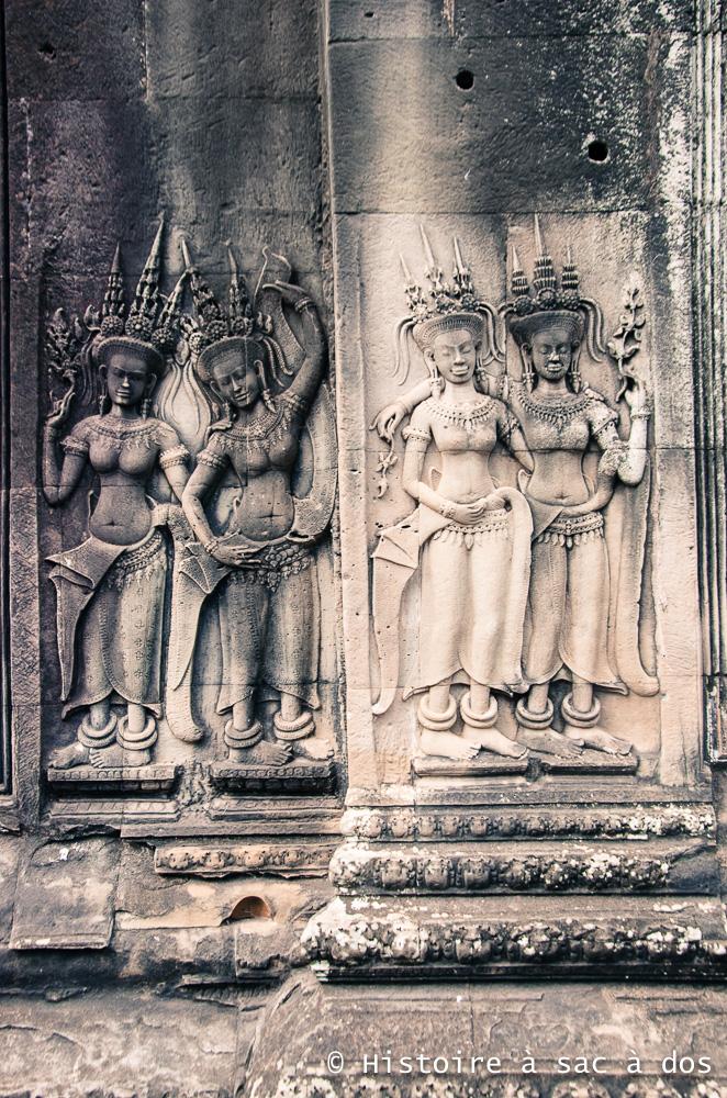 Asparas du temple d'Angkor Vat