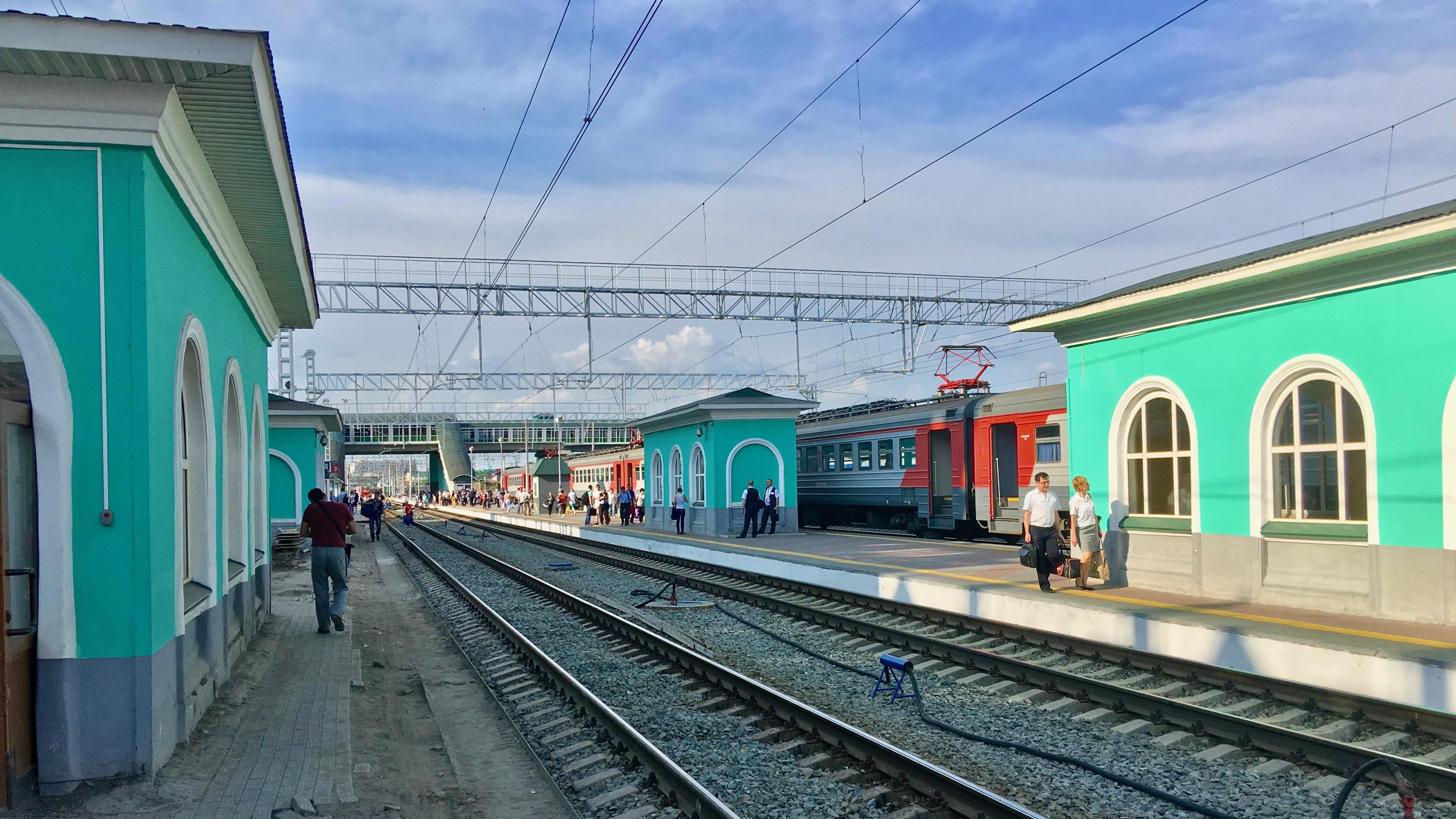 Gare de Omsk, Russie
