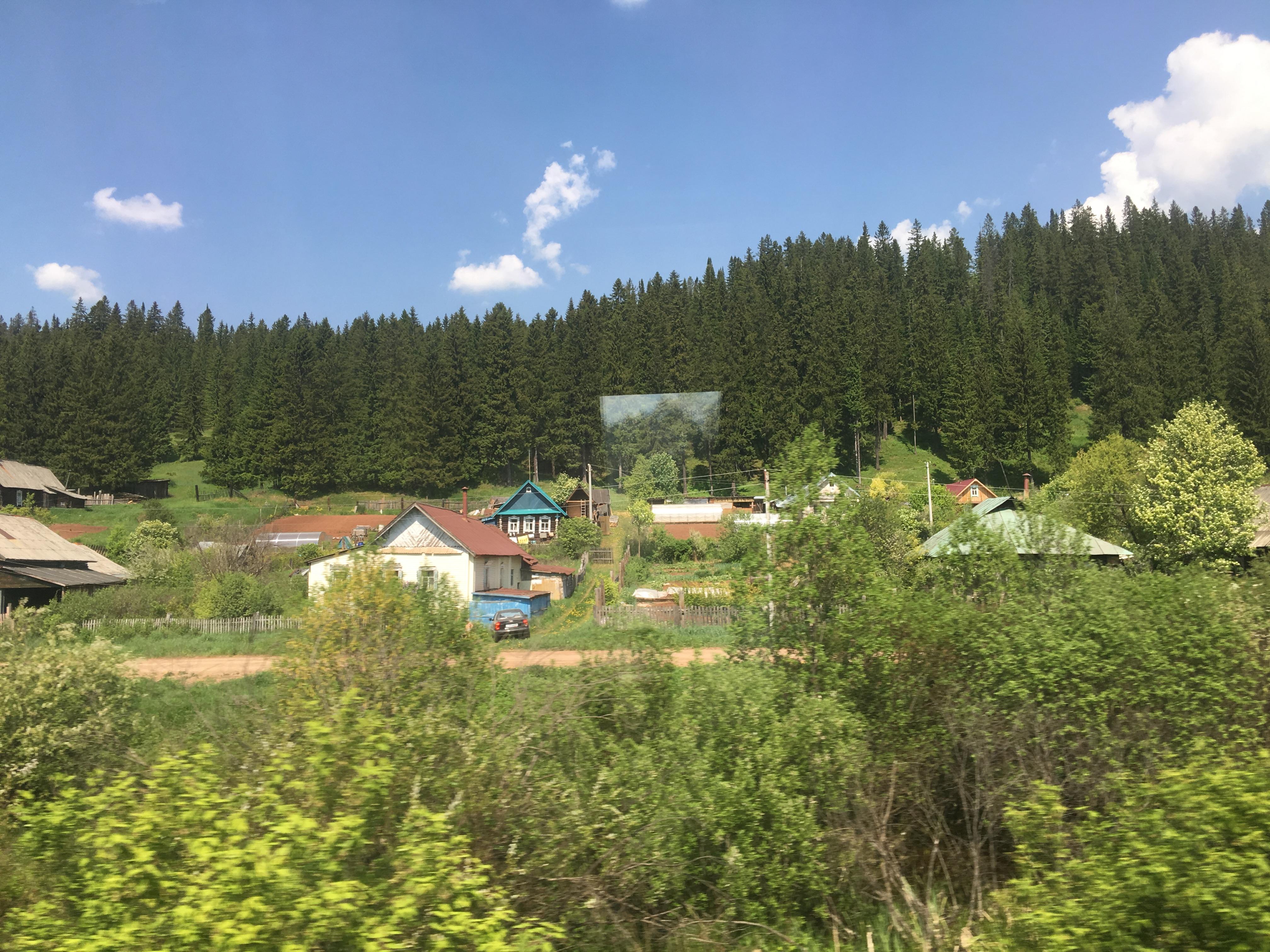 Russie, photo prise à bord du Transsibérien en direction de Moscou