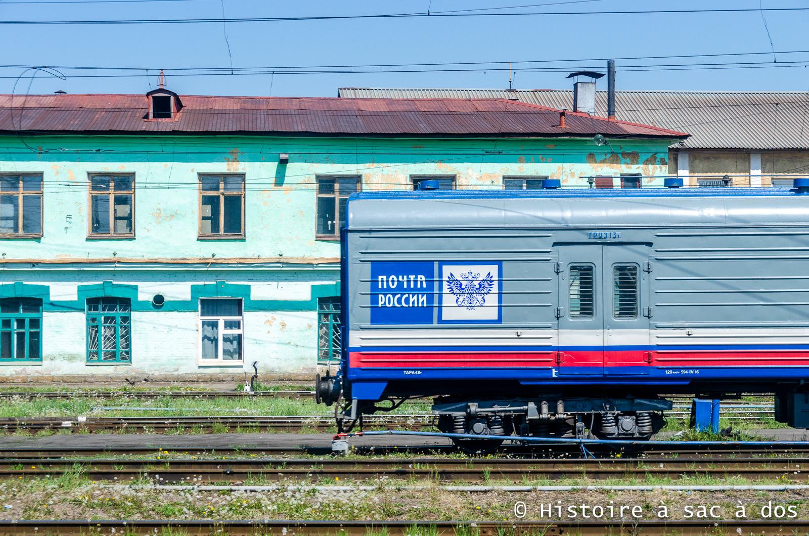 Gare étape du Transsibérien en direction de Moscou.