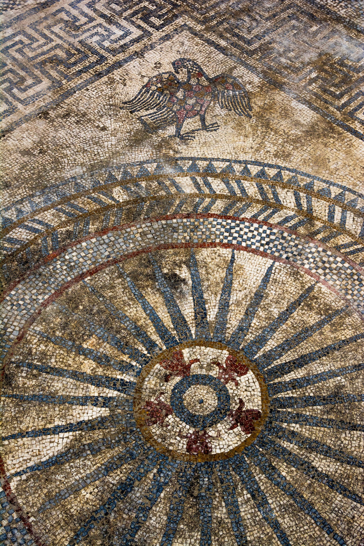 Mosaïque romaine d'Uzès - Aigle