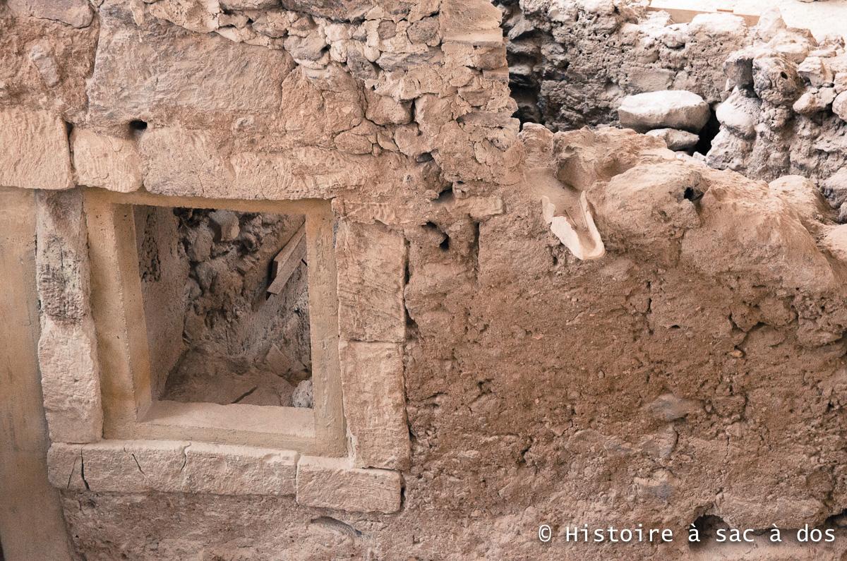 Fenêtre d'un mur d'Akrotiri