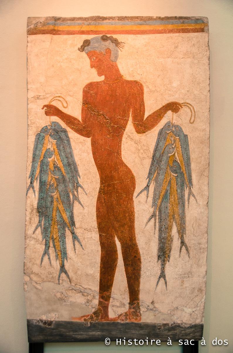 Jeune pêcheur - Musée préhistorique de Théra