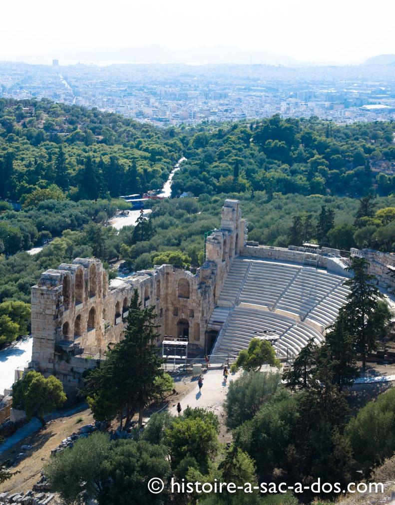L'Odéon de Périclès - L'Acropole, Athènes, Grèce