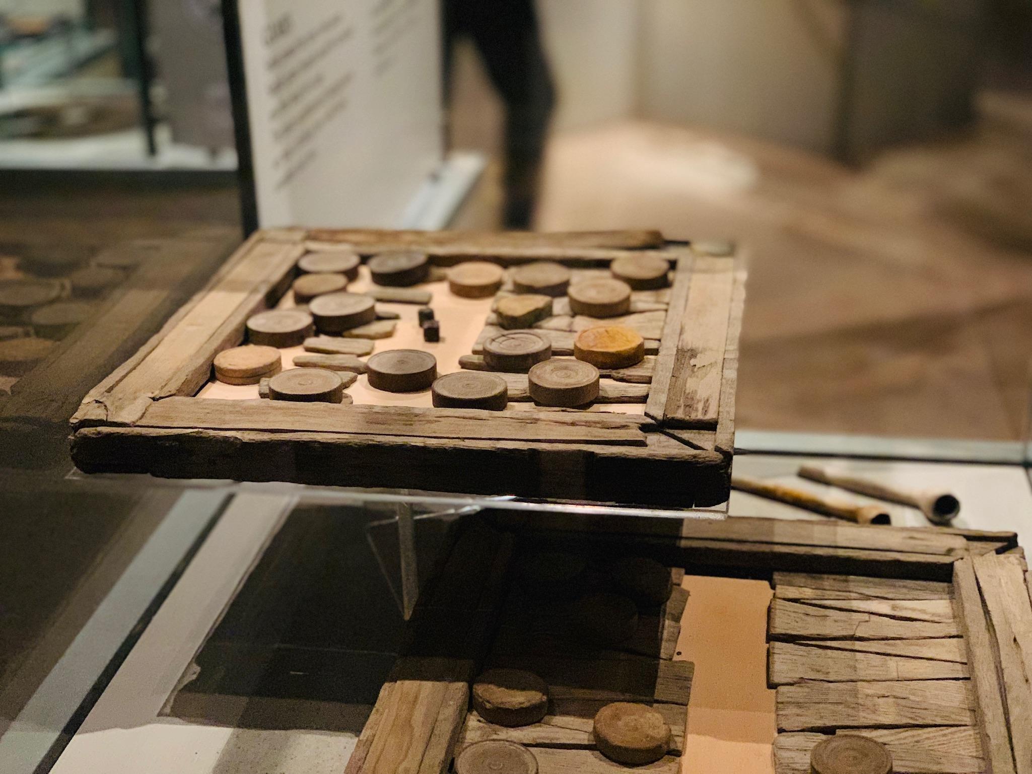Jeux de backgammon retrouvé à bord du Vasa.