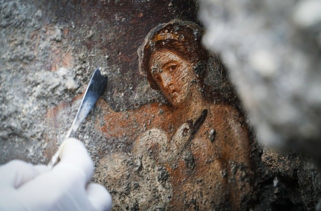 Fresque de Leda, Pompéi