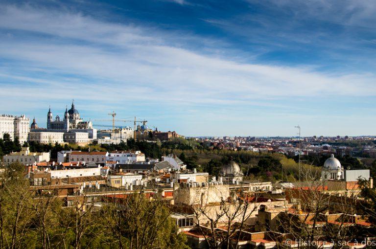 Vue de Madrid depuis le temple de Debod