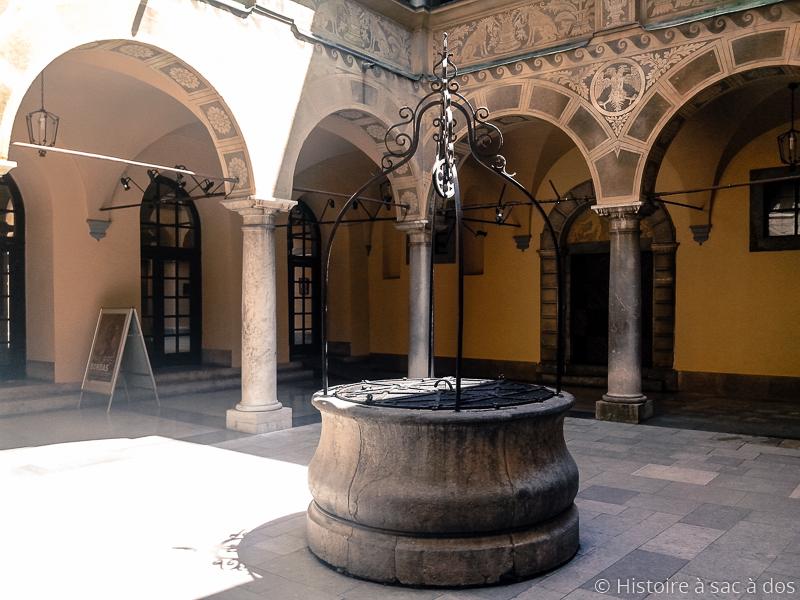 Cour à arcades de l'hôtel de ville de Ljubljana