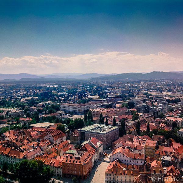 Vue de Ljubljana depuis le château