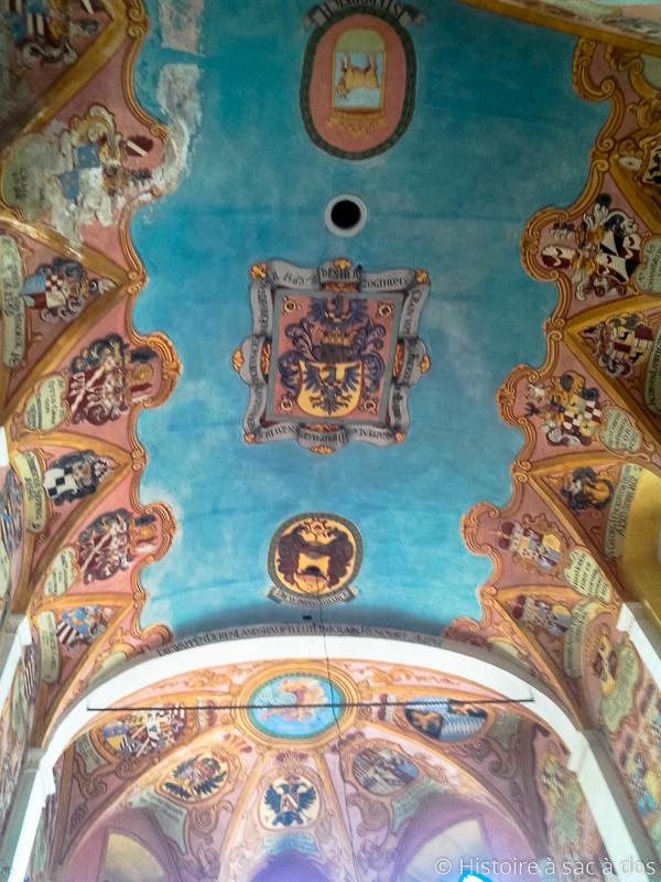 Plafond de la chapelle du château de Ljubljana