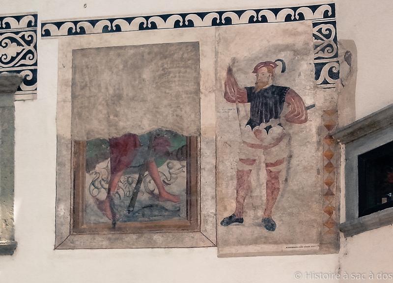 Fresques de la maison d'Homan à Skofja Loka