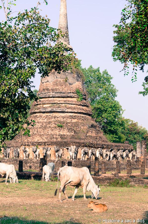 Wat Chang Lom de Sukhothai
