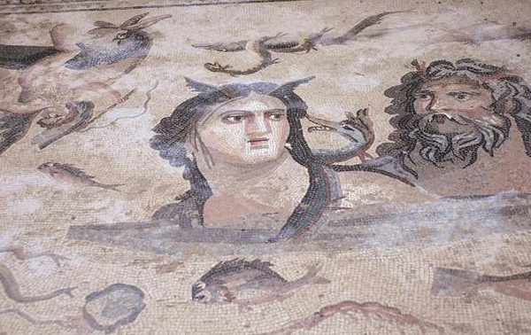 Mosaïques découvertes à Zeugma
