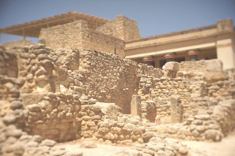 Vestiges du palais de Cnossos