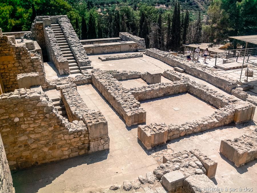 Vestiges des appartements royaux du palais de Cnossos