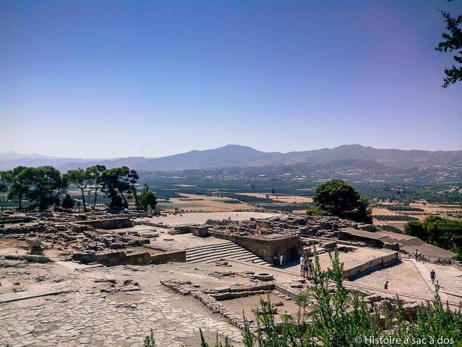 Palais de Phaistos en Crète