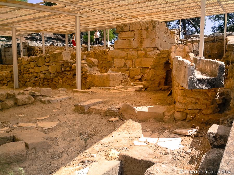Vestiges des pièces d'apparat d'Hagia Triada