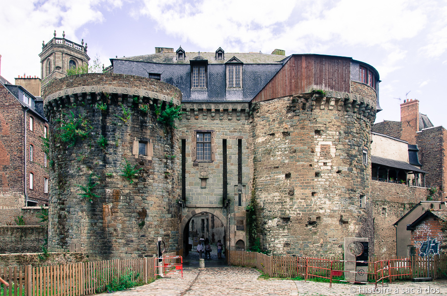Vestiges de la porte Mordelaise à Rennes