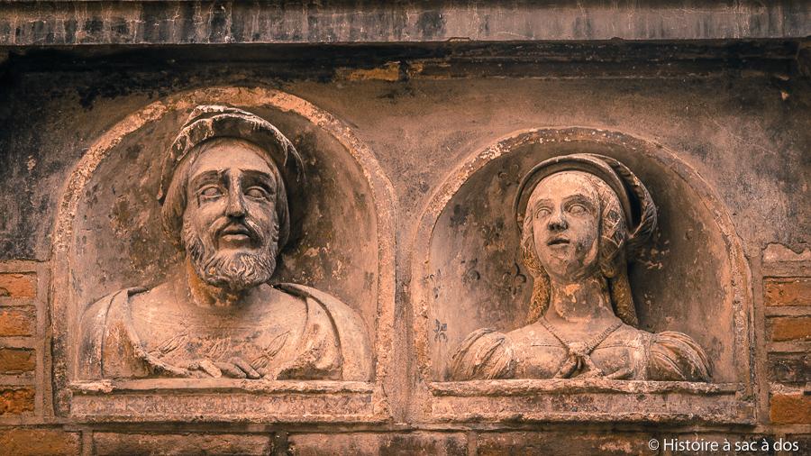 Portraits de François Ier et d'Eléonore de Habsbourg - Hôtel Reynes