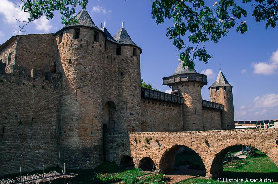 Château de Carcassonne après les restaurations de Viollet-le-Duc