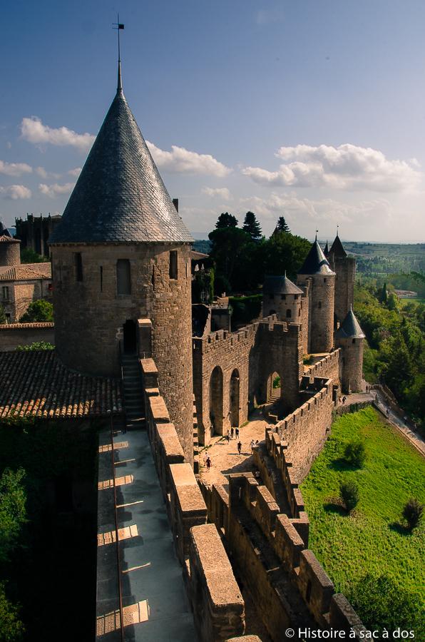 Fortifications restaurées de Carcassonne
