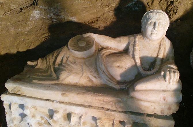 Tombeau étrusque mis au jour en Ombrie - Photo : SOPRINTENDENZA ARCHEOLOGIA DELL'UMBRIA