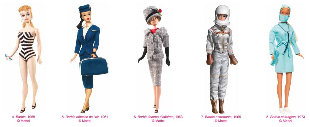 Barbie n'est pas juste une bimbo, elle pratique aussi différents métiers.