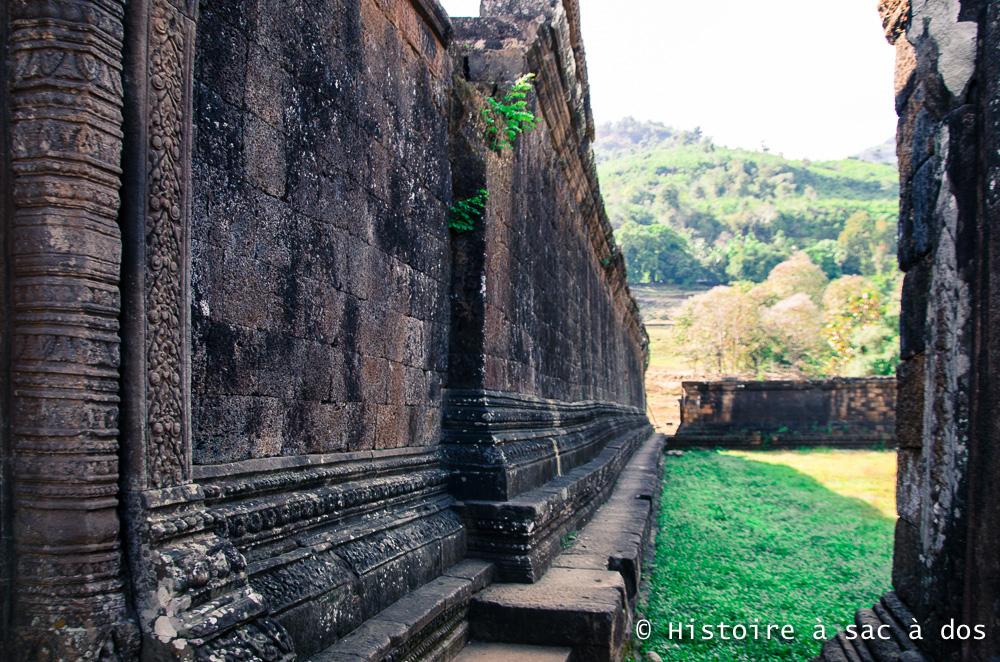 Site archéologique de Vat Phu - bâtiment surnommé 'palais'