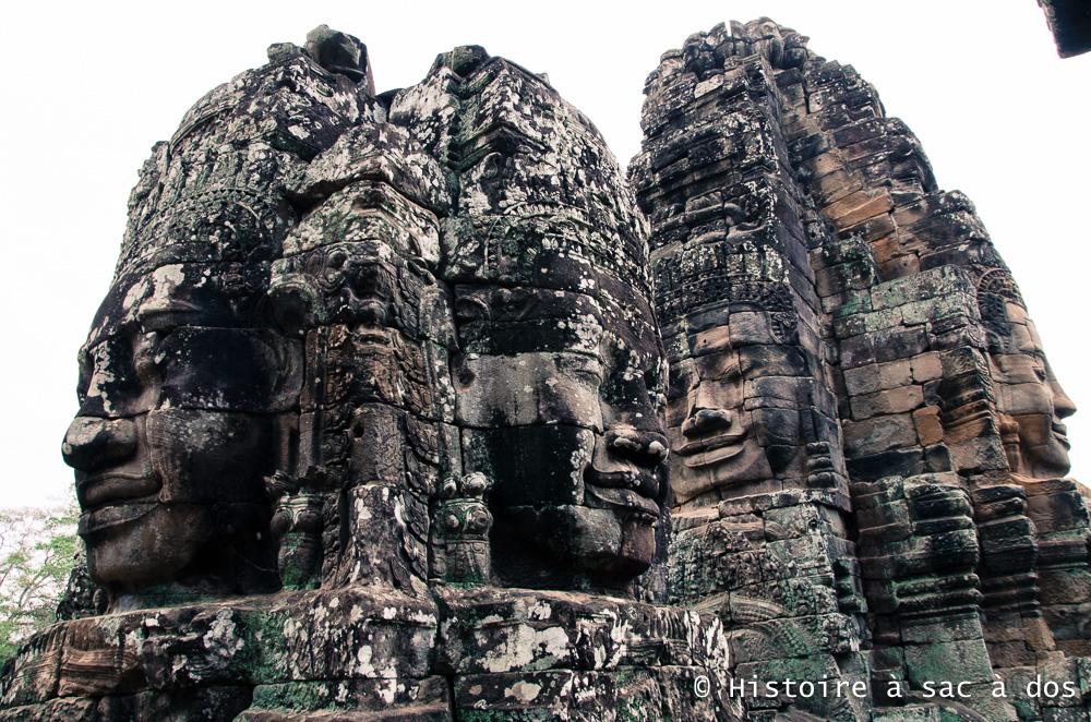 Tours à quatre visages du temple Bayon - Angkor Thom - Jayavarma VII