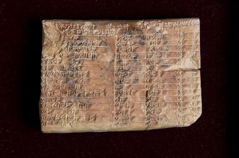 Tablette babylonienne de trigonométrie