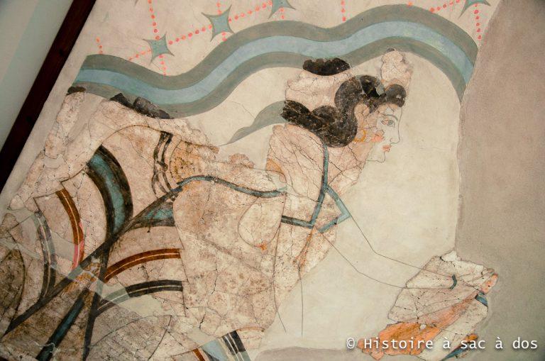Peinture murale d'Akrotiri - Santorin - Grèce